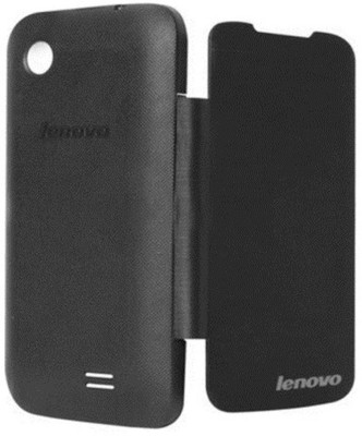 COVERNEW Flip Cover for Lenovo A369I(Black, Artificial Leather, Plastic)
