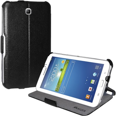 Amzer Flip Cover for Samsung Galaxy Tab 3 7.0 GT-P3210, Samsung Galaxy Tab 3 7.0 GT-P3200(Black)