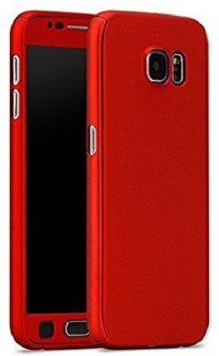 Fresca Front & Back Case for Samsung Galaxy J7 Prime(Red, Plastic)