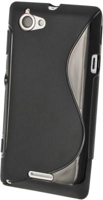 S Case Back Cover for Sony Xperia L C2105 Black, Grip Case, Silicon