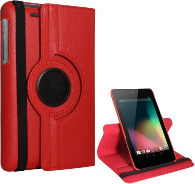 DMG Book Cover for Asus Google Nexus 7 1st Generation 2012(Red)