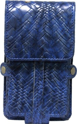 JoJo Pouch for HP Slate 6 VoiceTab II(Dark Blue, Artificial Leather)