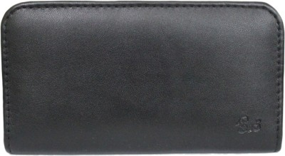 J Pouch for Asus Zenfone Max (3GB RAM, 32GB)(Black, Artificial Leather)