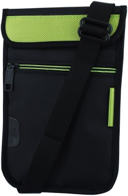 Saco Pouch for Tablet Karbonn Smart Ta Fone A39 HD Bag Sleeve Sleeve Cover (Green)(Green, Black)