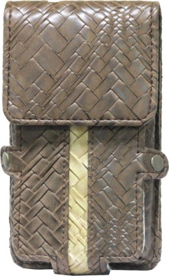 Jojo Pouch for Micromax A89 Ninja(Brown, Coffee, Artificial Leather)