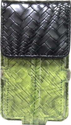 JoJo Pouch for HP Slate6 VoiceTab(Green, Black, Artificial Leather)