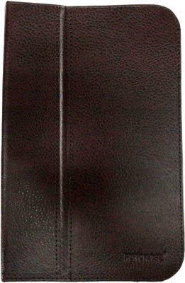 Fonokase Book Cover for Micromax Canvas P470(Brown)