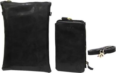 JoJo Pouch for Lava Iris 360 Music(Black, Artificial Leather)