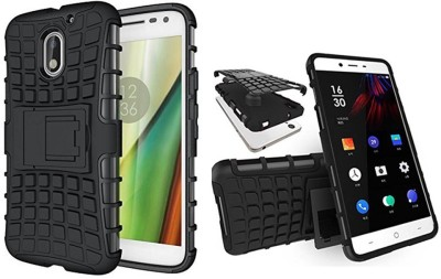 Top Grade Back Cover for Motorola Moto E3 Power(Black, Shock Proof, Rubber, Plastic)