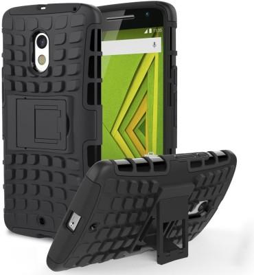 Chevron Back Cover for Motorola Moto X Play(Sapce Black, Shock Proof, Plastic, Rubber, Leather)