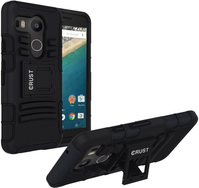 Crust Back Cover for LG Google Nexus 5X(Black, Shock Proof)