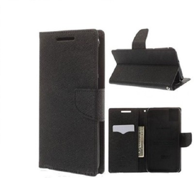 Coverage Flip Cover for Sony Xperia Z Ultra C6802(Black, Artificial Leather, Rubber)