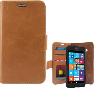 DMG Flip Cover for Microsoft Lumia 640(Brown)