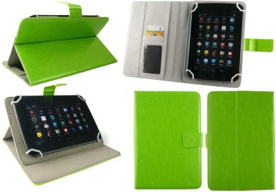 Emartbuy Wallet Case Cover for Binatone Appstar Gx Gaming(Green Executive Folio, Artificial Leather)