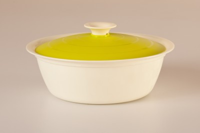 Cutting Edge Daffodil Serving Dish Vanilla Casserole, 1800 ml, Pack of, 1 Green Casserole Set(1800 ml)  available at flipkart for Rs.279