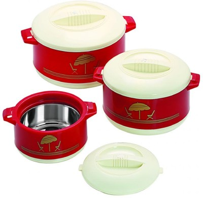 Cello Chef Pack of 3 Casserole Set(0.5 L, 0.85 L, 1.5 L) at flipkart
