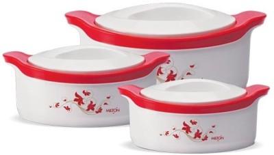 Milton Marvel JR. Set Pack of 3 Thermoware Casserole(500 ml, 1000 ml, 1500 ml) at flipkart
