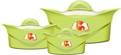 Milton Regalia Jr. Gift Set of 3 Casserole Pack of 3 Casserole Set(500 ml, 1000 ml, 1500 ml) at flipkart