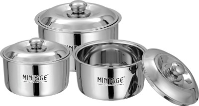 Mintage Hot Case(Fiesta) Gift Pack of 3 Cook and Serve Casserole Set(6400 ml) at flipkart
