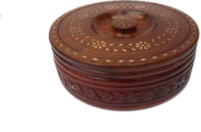 india wooden handi craft chapati box white brass Serve Casserole 1000 ml india wooden handi craft Casseroles