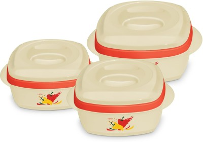 Milton Milano Jr. Gift Set Pack of 3 Casserole Set(500 ml, 1000 ml, 1500 ml) at flipkart