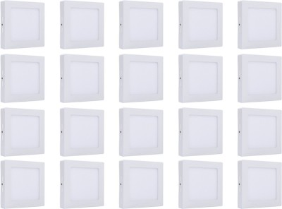 Bene Bene LED 12w Square Surface Panel Ceiling Light, Color of LED White (Pack of 20 Pcs) Flush Mount Ceiling Lamp at flipkart