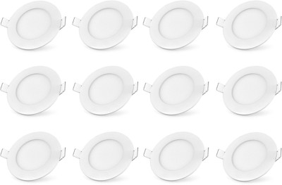 Bene LED 12w Round Recessed Panel, Color of LED White Recessed Ceiling Lamp at flipkart