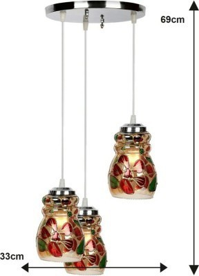 Bloom Bloom Ceiling lamp (Triple)_000038 Pendants Ceiling Lamp at flipkart