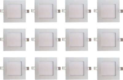 Bene LED 6w Square Slim Recessed Panel, Color of LED White Recessed Ceiling Lamp at flipkart