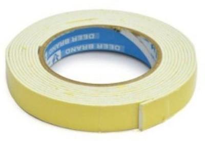 Lowprice Online Double Sided Foam Foam Tape (Manual)(Set of 4, Yellow)