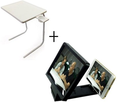 Tablemate TABLEMATE Adjustable Portable Folding Laptop Kid Study With 3d screen enlarge White Changing Table  available at flipkart for Rs.1697