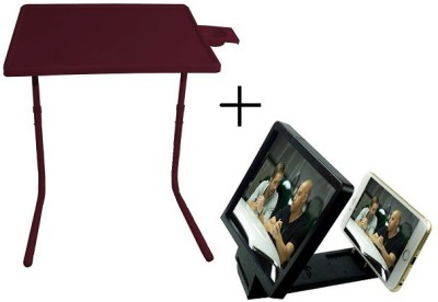 Tablemate TABLEMATE Adjustable Portable Folding Laptop Kid Study Platinum With 3d screen enlarge Brown Changing Table  available at flipkart for Rs.1448