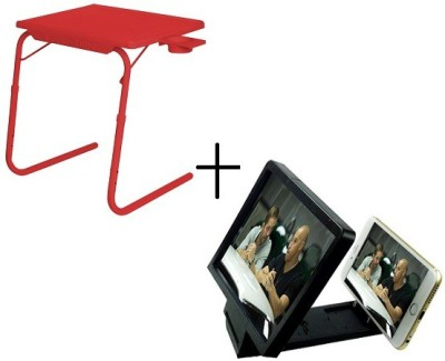 Tablemate TABLEMATE Adjustable Portable Folding Laptop Kid Study With 3d screen enlarge Red Changing Table  available at flipkart for Rs.1448