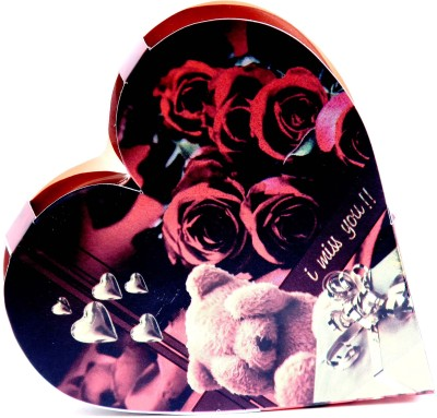 Skylofts I MISS YOU heart box with a cute teddy Chocolate Bars(45 g)
