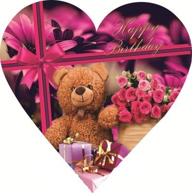 Skylofts Stylish Happy Birthday Heart Box Chocolate Bars(45 g)