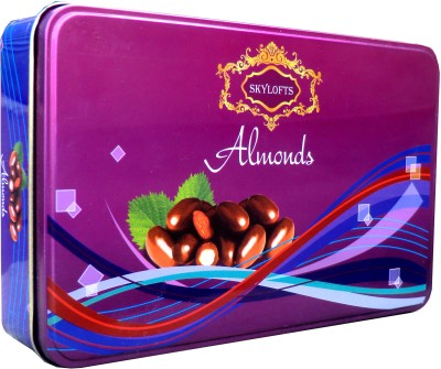 Skylofts Stylish FORGIVE ME Coated Almonds Tin with cute teddy, sorry card Chocolate Bars(150 g)