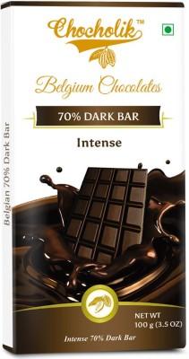 Chocholik Dark 70% Intense Bar - Luxury Belgium Chocolate Bars(100 g) at flipkart