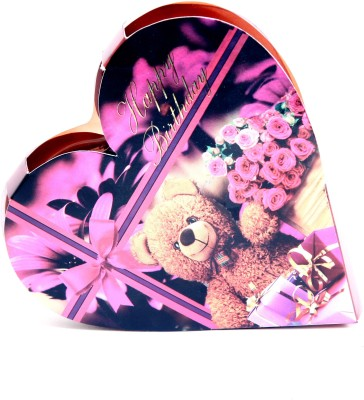 Skylofts Cute Happy Birthday Heart Gift Box with a cute teddy Chocolate Bars(45 g)