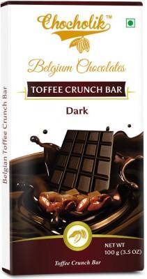 Chocholik Dark Toffee Crunch Bar - Luxury Belgium Chocolate Bars(100 g) at flipkart