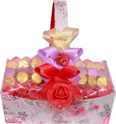 Skylofts Beautiful Handle Basket Gift Chocolate Bars(400 g)