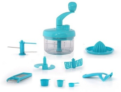 Crystal Mini Food Processor 7 in 1 Chopper(Blue)  available at flipkart for Rs.1299