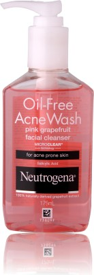 Neutrogena Oil-Free Acne Wash Facial Cleanser Pink Grapefruit 177ml