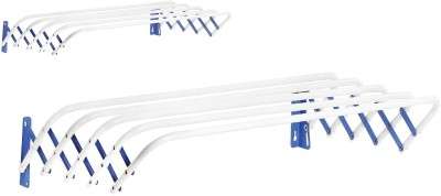 Bonita Carbon Steel Wall Cloth Dryer Stand(Blue, White, Pack of 2)  available at flipkart for Rs.599