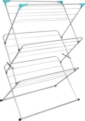 Benesta Benesta Clothes Dryer Steel Floor Cloth Dryer Stand(White)