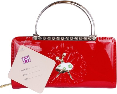 Fashion Knockout Women Party Red  Clutch