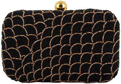 Duchess Women Wedding, Party, Casual Black, Gold  Clutch