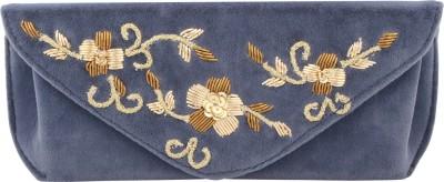 D'oro Women Party Blue  Clutch