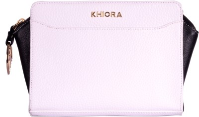 Khiora Women Casual, Formal, Festive, Wedding, Party White, Black  Clutch
