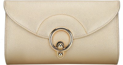 Lino Perros Casual Gold  Clutch at flipkart