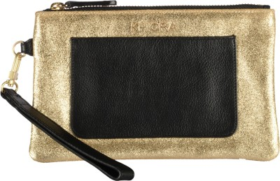 Khiora Women Casual, Formal, Festive, Wedding, Party Gold, Black  Clutch